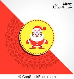 christmas greeting with symbols