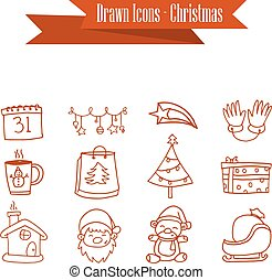 Illustration of Christmas icons collection