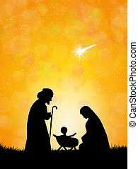 Christmas Nativity Scene - illustration of Christmas ...