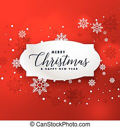 illustration of christmas red background with snowflakes
