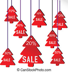 Illustration of Christmas sale