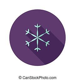 Christmas Snowflake Flat Icon