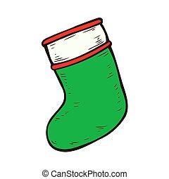 Illustration of Christmas Stocking