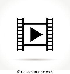 cinema icon on white background