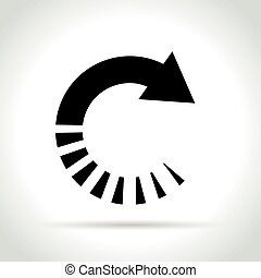 circle arrow icon on white background