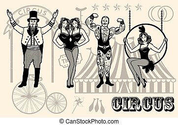 Illustration of circus star. - Pattern Of The Circus. The...