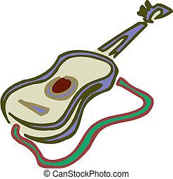 Illustration of classic guitar