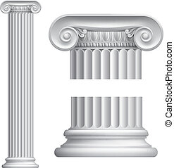 Ionic column - Illustration of classical Greek or Roman...
