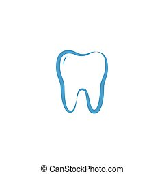 Illustration of clean dental tooth logo design template