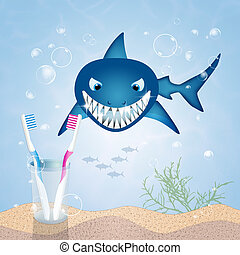 clean teeth - illustration of clean teeth
