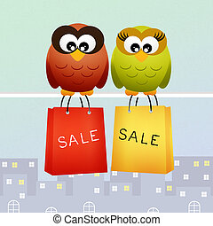 illustration of clearance sale