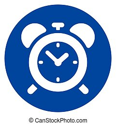 clock blue circle icon