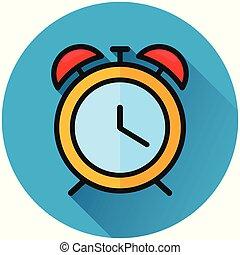 clock circle blue icon concept