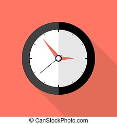 Clock Deadline Flat Icon