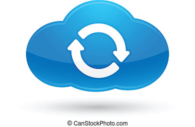 Illustration of Cloud Computing Sync icon for your design and products