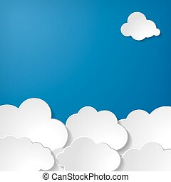 illustration of clouds collection on a blue background