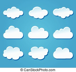 clouds design on blue background