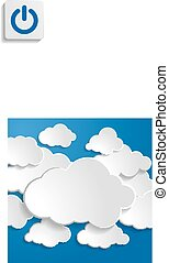 illustration of clouds on a blue background