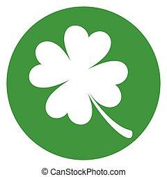 clover green circle icon