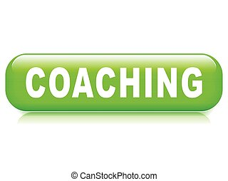 coaching button on white background