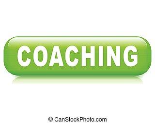 coaching button on white background
