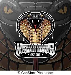 Cobra head esport mascot logo design