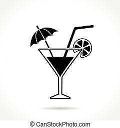 cocktail icon on white background