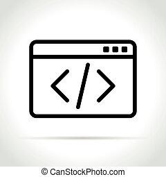 code icon on white background