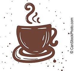 Illustration of coffee cup. Vector