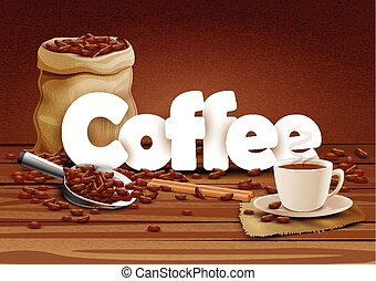 illustration of Coffee wallpaper food background