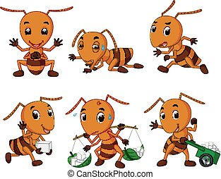 collection of ant cartoon