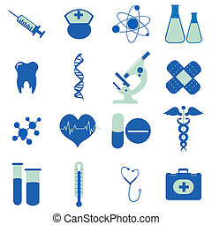 illustration of collection of medical icons