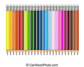 pencils - illustration of colored pencils for school and ...