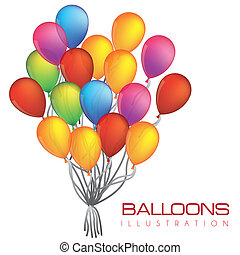 illustration of colorful balloons