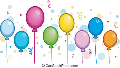 Colorful Balloons - Illustration of Colorful Balloons