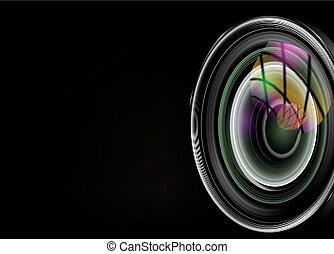 illustration of colorful camera