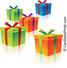 Colorful Cardboard Gift Boxes