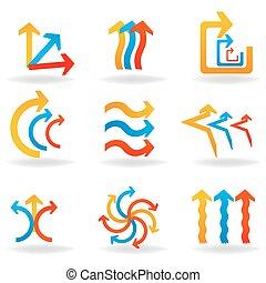 colorful designer arrows