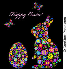 colorful easter card