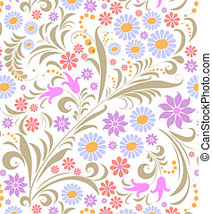 colorful flower on white background - Illustration of...