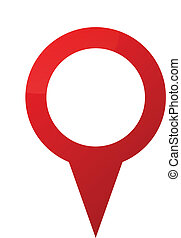 Illustration Of Colorful Map Pointer With Blank Circle Tag