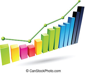 Colorful Stats Graph - Illustration of Colorful Stats Graph...