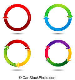 colorful vector arrows