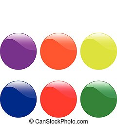 colorfull buttons - vector