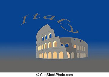 Illustration of Colosseum in Italy