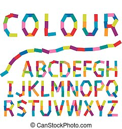 Illustration of  Colour alphabet
