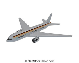 Illustration of commercial airliner isolated on white