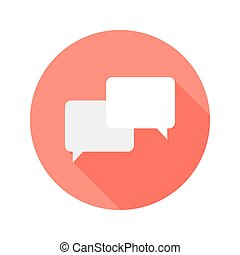 Communication Circle Flat Icon