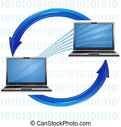 computer connectivity - illustration of computer...