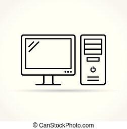 computer icon on white background